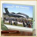 2013 libro de cristal foto personalizado con el logotipo de gobierno para souvenirs