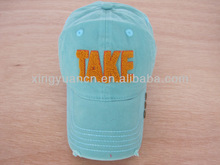 heavy washed baseball cap with towel embroidery