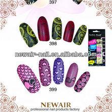Abstract design real nail polish strips