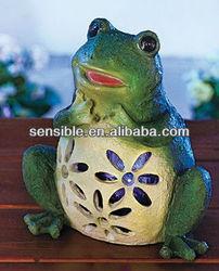 Solar Powered Frog Bug Zappers Solar garden frog decor