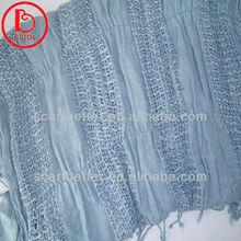 Elastic viscose scarf rayon shawl