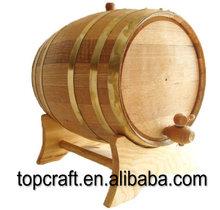 Oak Barrel - 5.28 gallon (20 liter) Brass Hoop