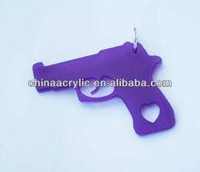 Gun / Shotgun / Handgun Acrylic Plastic Necklace Charm