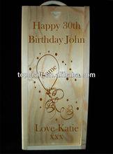 supply Personalised Engraved Birthday, Anniversary, Wedding Wine/Champagne Box