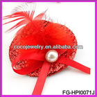 kids diadems with pedreria mini top hat with feather hair pin