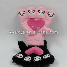 2012 winter super warm animal plush gloves