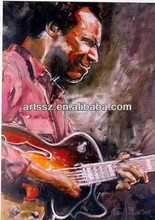 quality guitar player art oil painting art painting--home decoration--instrumental canvas art oil painting