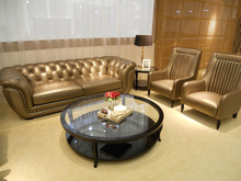 Luxury chesterfield leather sofa