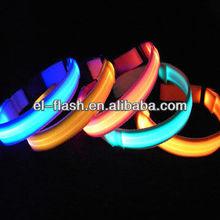 nylon webbing led flashing dog collars