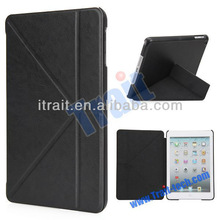 Creative Triangle Stand Slim Folio Leather Case for iPad Mini