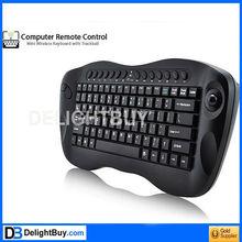 Computer Remote Control Mini Wireless Keyboard with Trackball