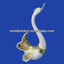 decorativos para el hogar cisnes de cerámica
