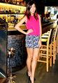 Moda sem mangas blusa e saia, red tops 2013, mini skiirts