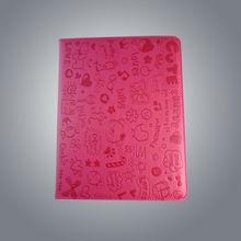 PU leather book style cute magic cartoon girl design case fashion case for ipad2/3 U4302