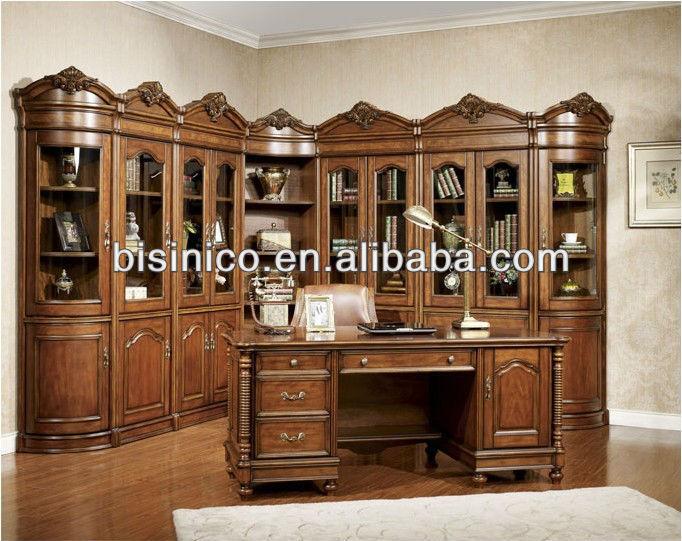 Estilo country americano de madeira sala de estudo de mesa - Royal design muebles ...