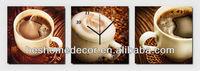 Vintage coffee cup fashion wall clock, dentist gift, wall clock mechanisms