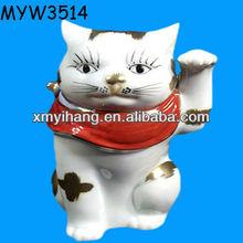 Trendsetter japan White Cute japan fortune ceramic painted decorative ceramic cat