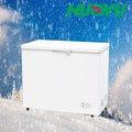 Topo aberto congelador porta bd/c-255 com fora do condensador de vidro interior da lâmpada led