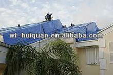 20' X 25' Large Blue Multi-Purpose 6-mil Poly Tarp for roofs, Trucks, RV Cover 20x25 Waterproof Construction Grade Tarpaulin