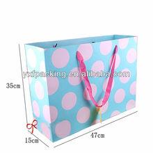 polka dots gift paper bag