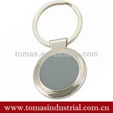 Promotional item round shape custom logo blank metal keychains