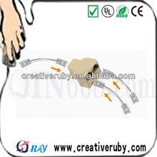 Rj45 cat5e 1 2 para rede de cabo splitter acoplador plug, pinos 8 cat5e/cat6 rj45 conector divisor/acoplador