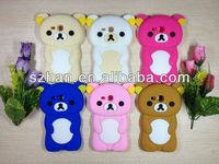 3D Rilakkuma Bear Cute Soft Silicone Case Cover for Samsung i8190 Galaxy S3 III mini