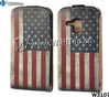 Flag Case For Galaxy Duos s7562,Retro US Flag Leather Case For Samsung Galaxy S Duos s7562