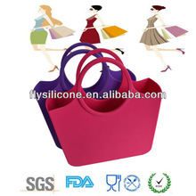 AAA Grade silicone handbag for shopping and outdoor travel in 2013
