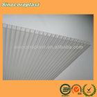 Transparent UV Stabilized Hollow Sheet Plastic