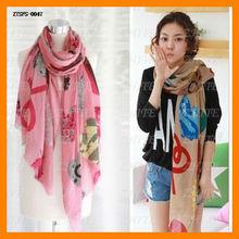 2013 sweet fruit fluid thin women's scarf air conditioning large cape beach towel shawl scarves 180*115 CM MOQ 10PCS