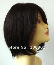 100% Brazilian Virgin Remy Hair BOB style Silk top Glueless Full Lace Wig Medical Wig