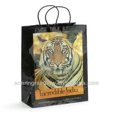 cotton handle paper shopping bag