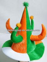 Velvet st patrick day hats with horn