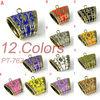 Antique golden scarves slide with colored enamel hot selling, PT-762