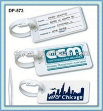metal and silver luggage tag ,pvc luggage tag/travel label, luggage tag laser engraved