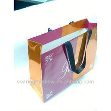 printed pink paper shopping bag