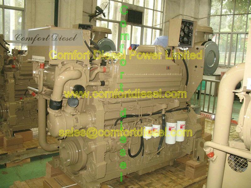 Motor diesel marino, nta855-m, kta19-m, KTA38-M propulsión marina motor para barcaza a bordo del barco y los barcos de pesca