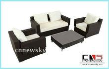 Wicker Livingroom Sofa Outdoor Rattan Garden Sofa Set