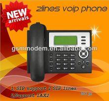 2 LINE voip phone/SIP ip phone/desk phone