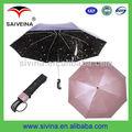 buena calidad plegables paraguas de la lluvia de meteoros paraguas proceso de fabricación