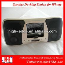 mini multi-media wireless bluetooth speaker, Universal dock car speaker for iphone4, ipad, mp3,notebook,mobile phone(HE3021)