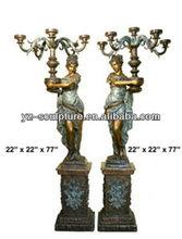 Brass antique statue lamp of beautiful girls BFSN-D006
