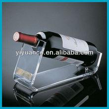 Customized acrylic single wine bottle holder