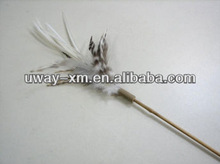 New arrival pet toy with feather & bamboo rod for cats