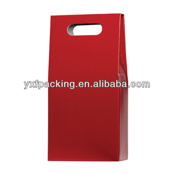 Double Wine Bottle Carrier- Red