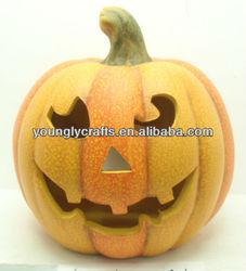 ceramic craft pumpkin for halloween holiday supplies