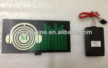 hot sales el equalizer t-shirt panel with DC6V inverter CE/ROHS