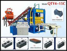 coal brick production line QTY4-15C concrete block making machine