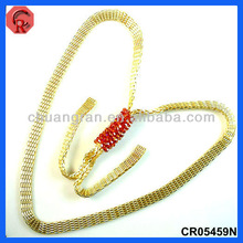 2013 fashion handmade red glass beads gold plating color long style different types of necklace chains